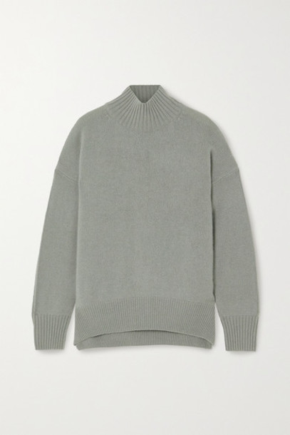 Allude - Cashmere Sweater - Gray green