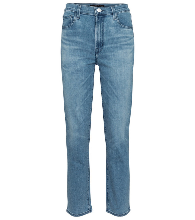 J Brand Alma high-rise straight jeans in blue
