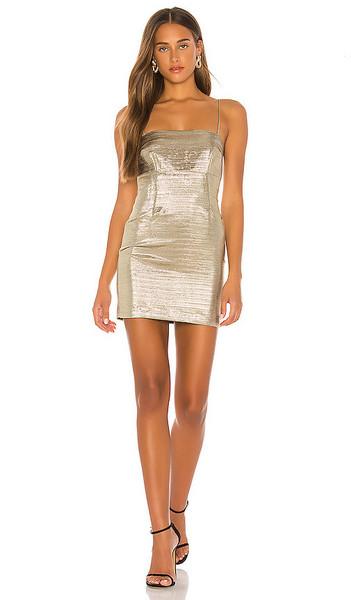 Lovers + Friends Lovers + Friends The Karine Mini Dress in Metallic Gold