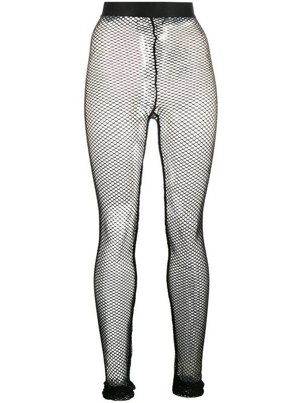 Ann Demeulemeester high-waisted fishnet leggings in black