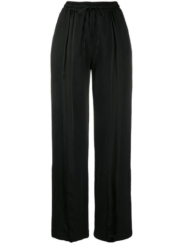 Andrea Ya'aqov drawstring-waist flared trousers in black