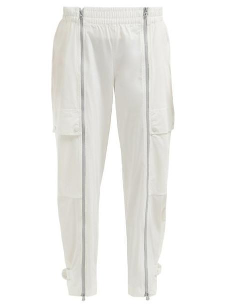 pants track pants zip white