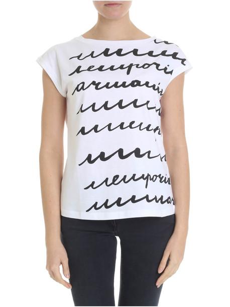 Emporio Armani Emporio Armani Stretch Cotton T-shirt in black / white