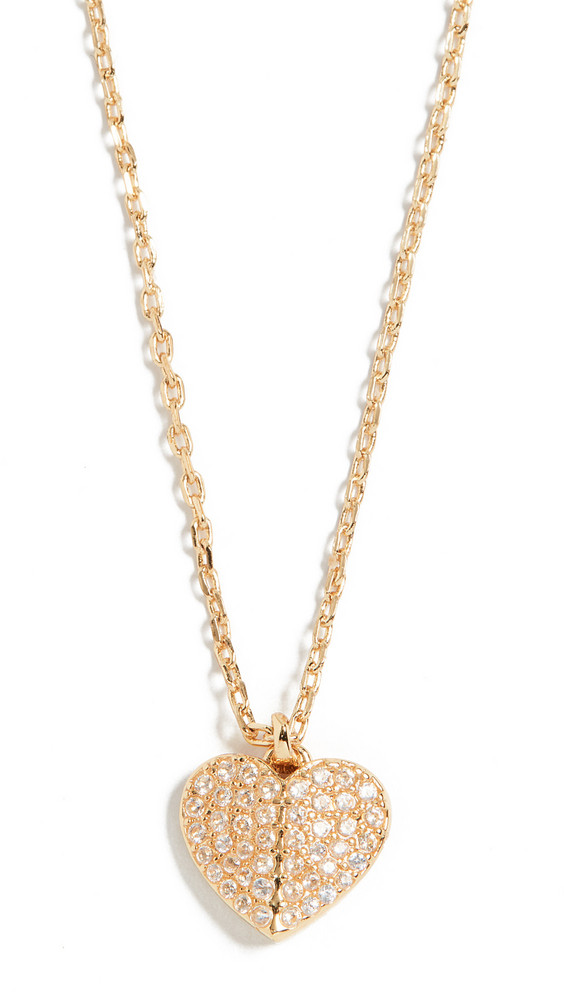 Kate Spade New York Pave Mini Pendant Necklace in gold / clear