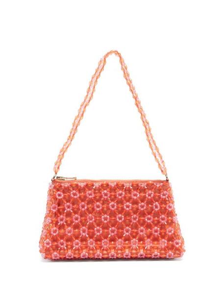Shrimps - Dawson Floral-beaded Bag - Womens - Orange