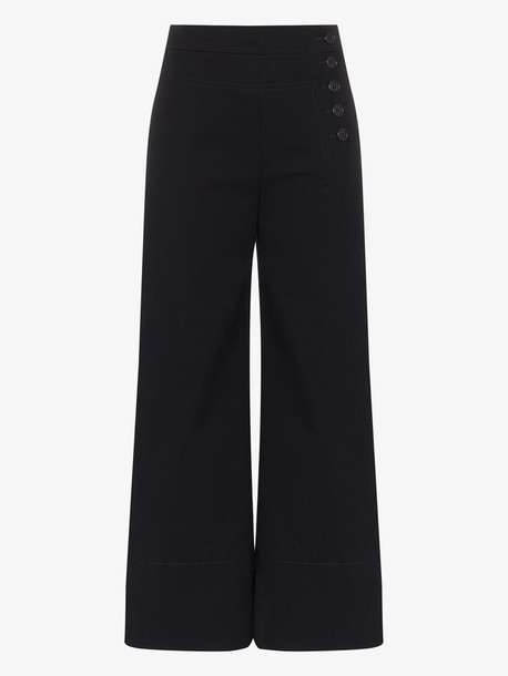 Chloé Chloé Flared buttoned trousers in blue