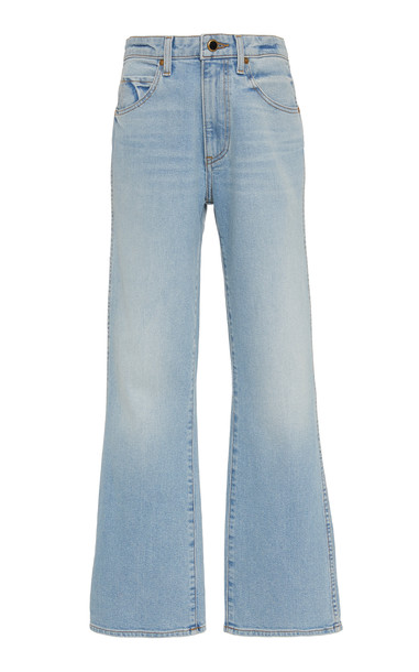 Khaite Vivian High-Waisted Bootcut Jeans Size: 28