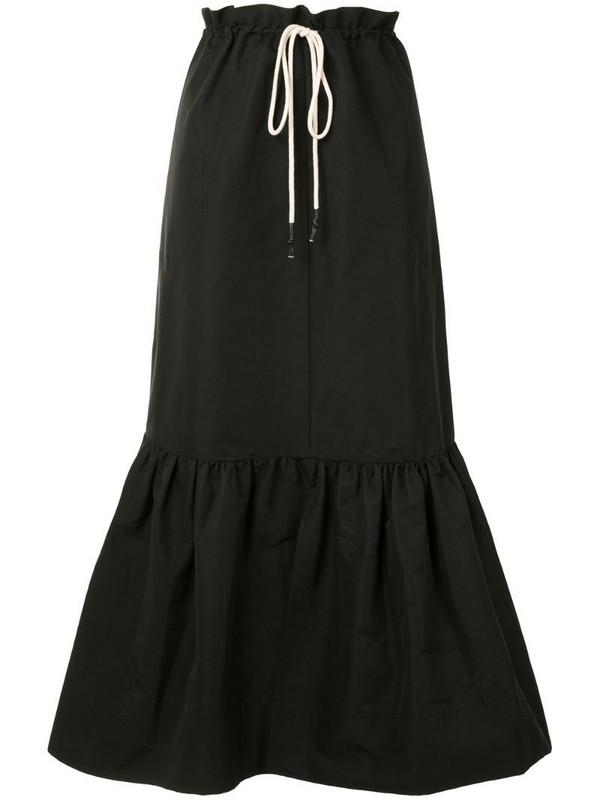 Lee Mathews Reo maxi skirt in black