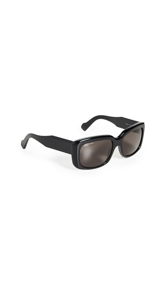 Balenciaga Paris Square Sunglasses in black / gray