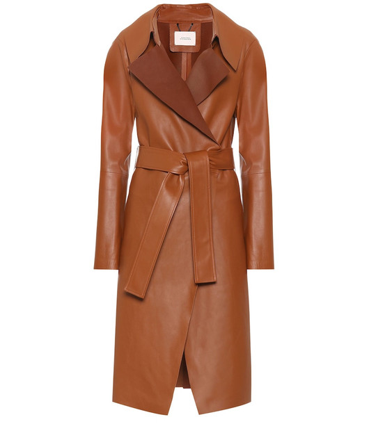 Dorothee Schumacher Exclusive to Mytheresa – Modern Volumes leather trench coat in brown