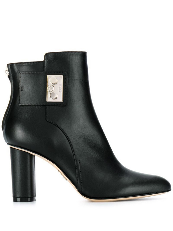 Rodo push-lock ankle boots in black