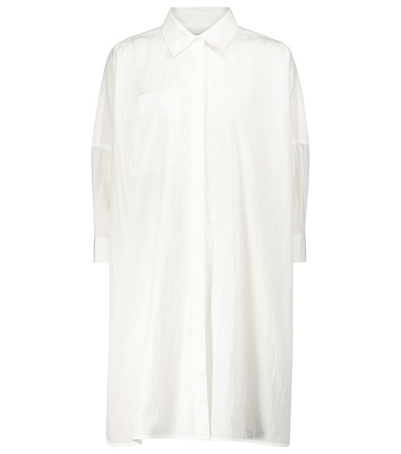 Co Cotton-blend shirt in white