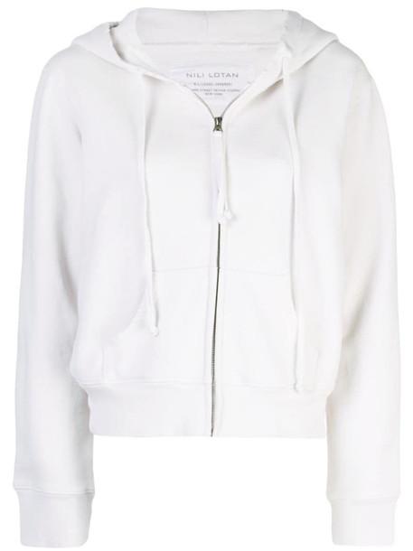 Nili Lotan drawstring hoodie in white