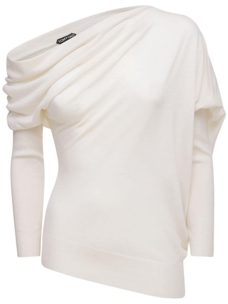 TOM FORD Cashmere & Silk Knit Sweater in white