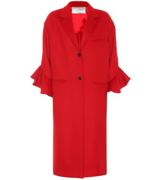 Valentino Wool and cashmere coat in red