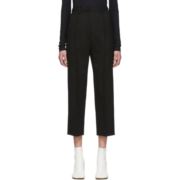 MM6 Maison Margiela Black Wool Trousers