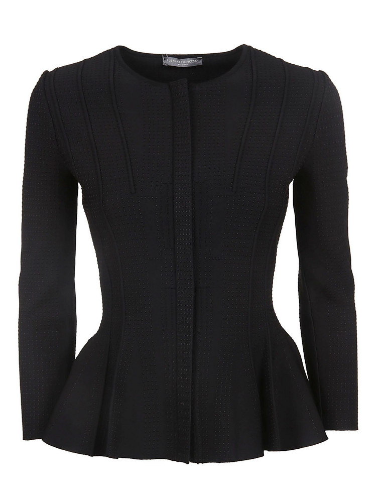 Alexander Mcqueen Fitted Blouse in black