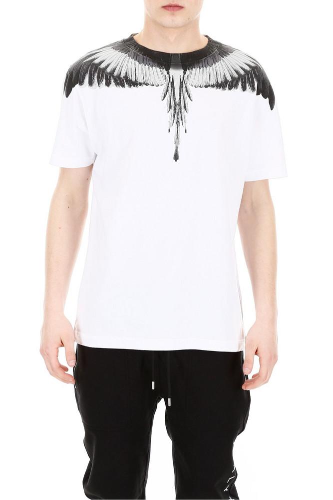 Marcelo Burlon Wings T-shirt in silver / white