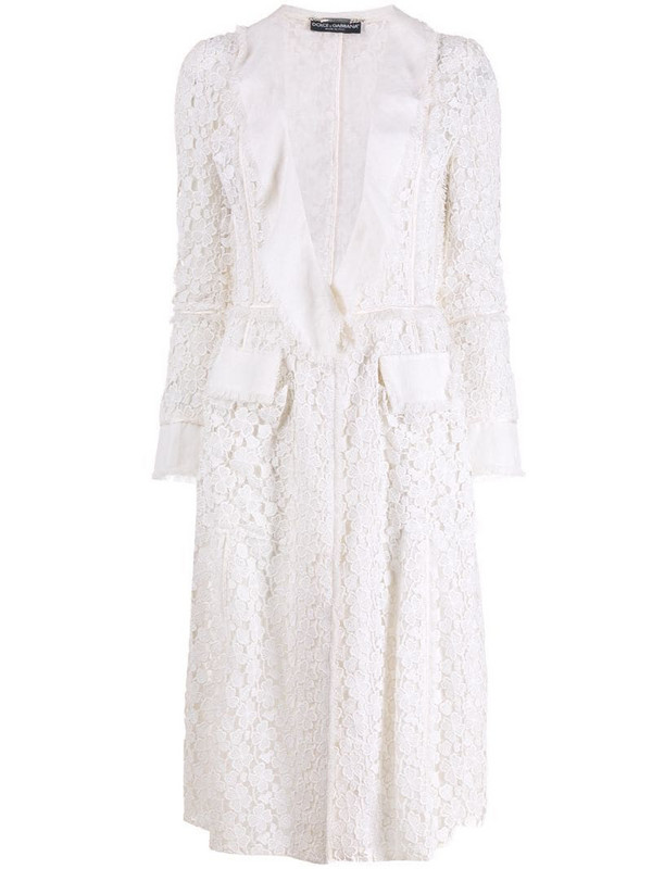 Dolce & Gabbana Pre-Owned 1990's lace jacket in white