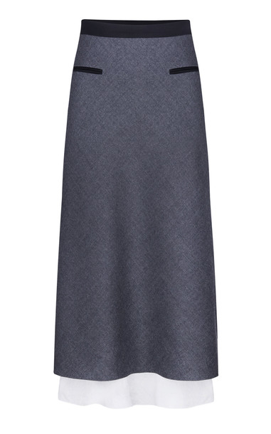 Anna October High-Rise Wool Pencil Skirt in grey