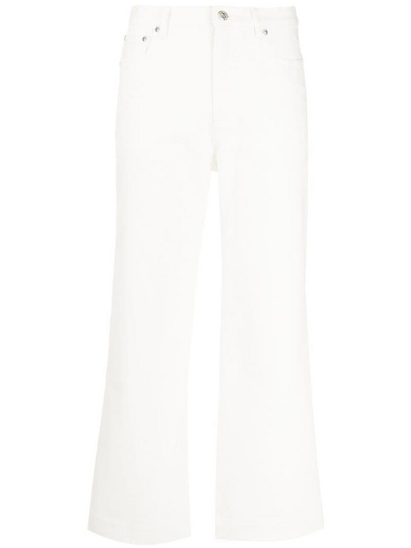 A.P.C. high rise wide-leg jeans in white