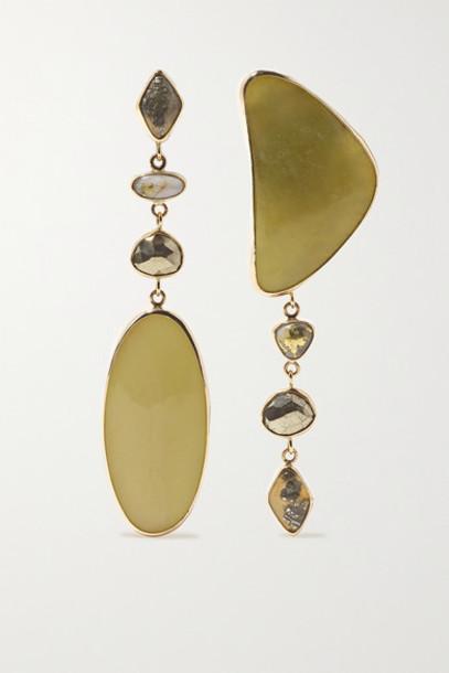 Melissa Joy Manning - 14-karat Gold Multi-stone Earrings