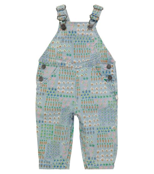 STELLA McCARTNEY Kids Baby printed denim overalls