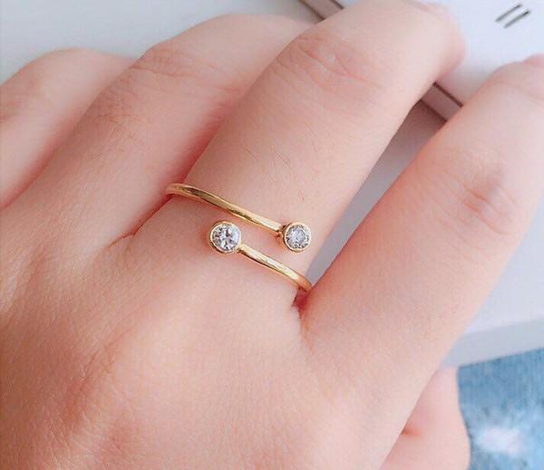 jewels ring cubic zirconia ring gemstone ring silver cubic zirconia ring for nail knuckle ring jewelry minimalist