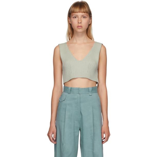Low Classic Green Rib Knit Tank in mint