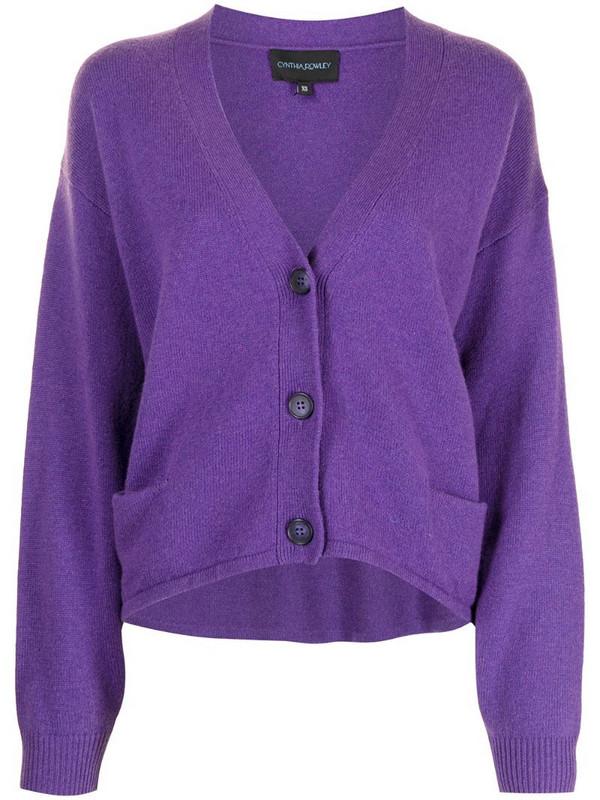 Cynthia Rowley V-neck cardigan in purple