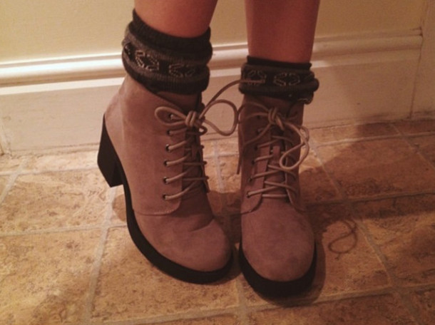 shoes, beige, boots, lace up ankle