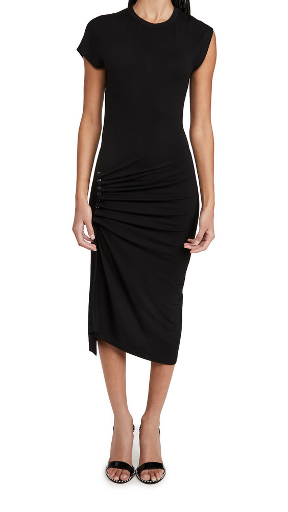 Paco Rabanne Boat Neck Dress in black