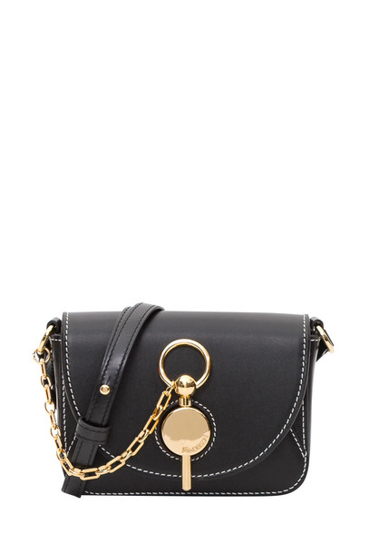 J.W. Anderson Nano Key Bag In Buffed Calf Leather And Calf Suede Lining in nero