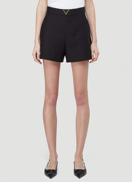 Valentino V Plaque Shorts in Black size IT - 40