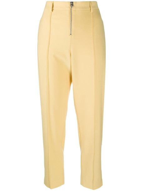 Calvin Klein zipped waist trousers in yellow