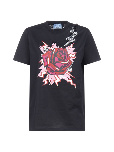 Prada Short Sleeve T-Shirt in nero