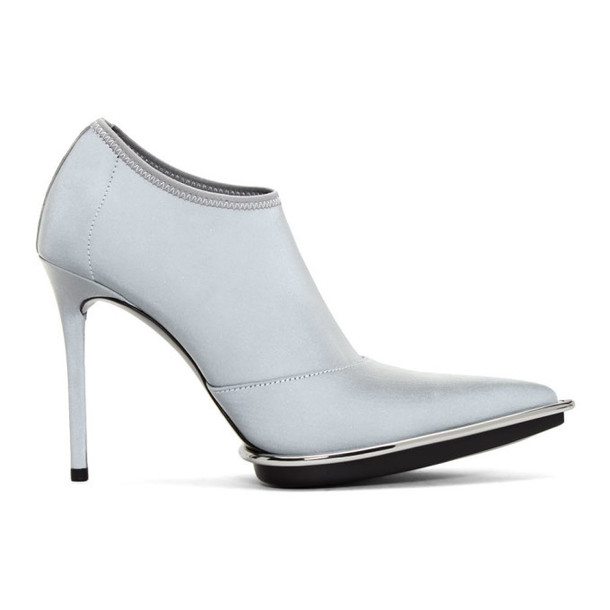 Alexander Wang Silver Cara Stretch Boots