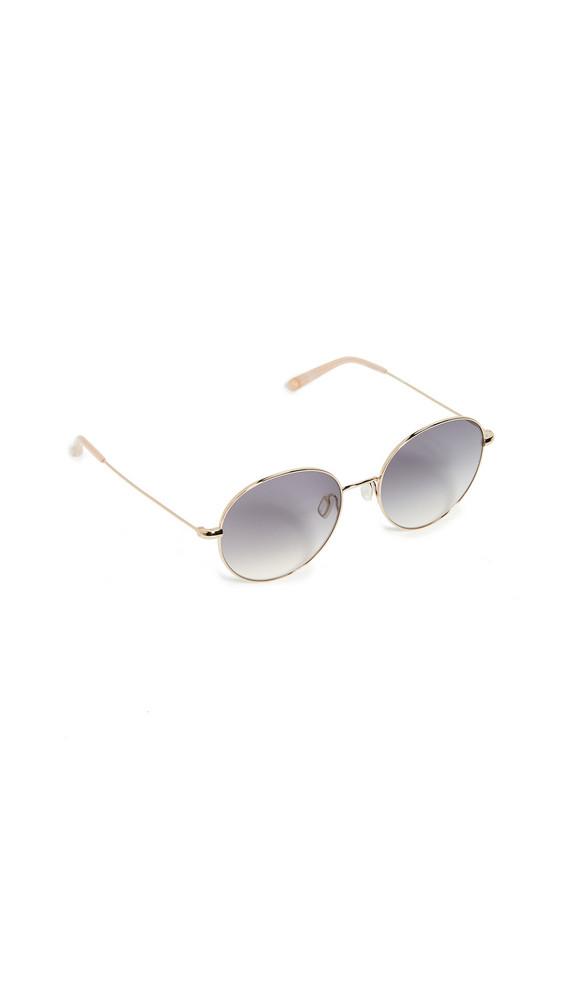 GARRETT LEIGHT Valencia Sunglasses in gold / peach