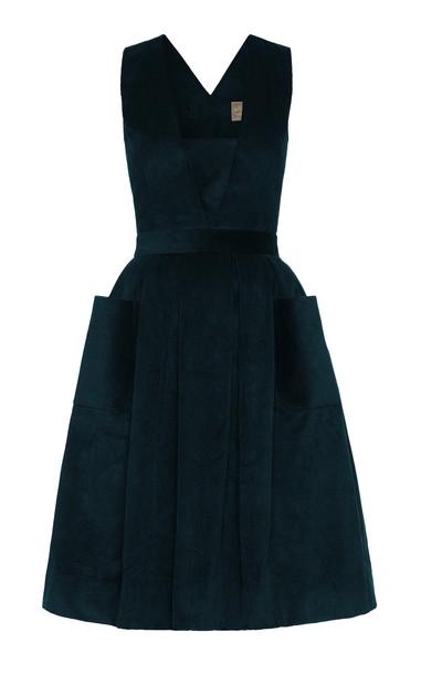 Lena Hoschek Randy Corduroy Dress Size: S in navy