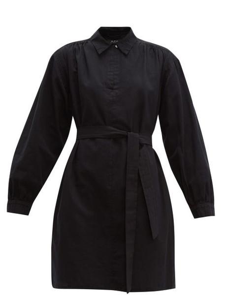 A.P.C. A.p.c. - Maria Cotton Canvas Dress - Womens - Black