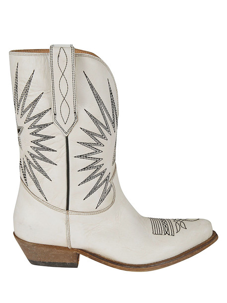 Golden Goose Wish Star Low Boots in white