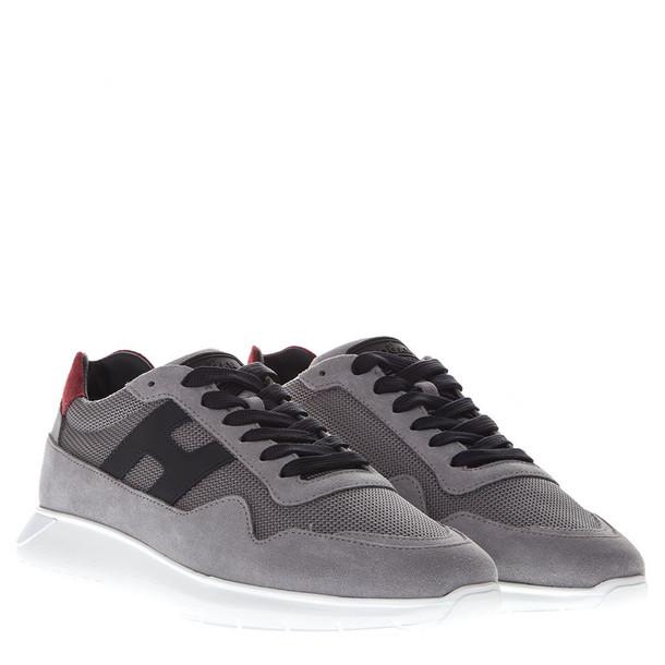 Hogan Interactive Grey Suede Sneakers