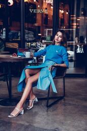 vivaluxury - fashion blog by annabelle fleur: nyfw mini moment,blogger,sweater,skirt,bag