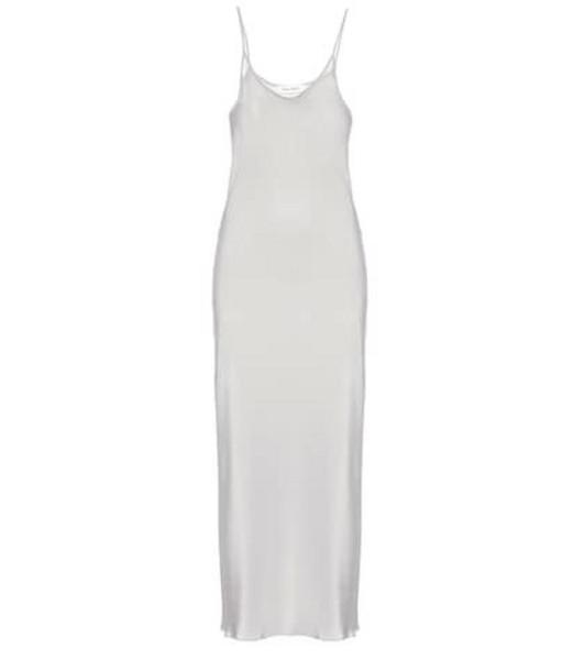 Ryan Roche Exclusive to Mytheresa – silk slip dress in blue
