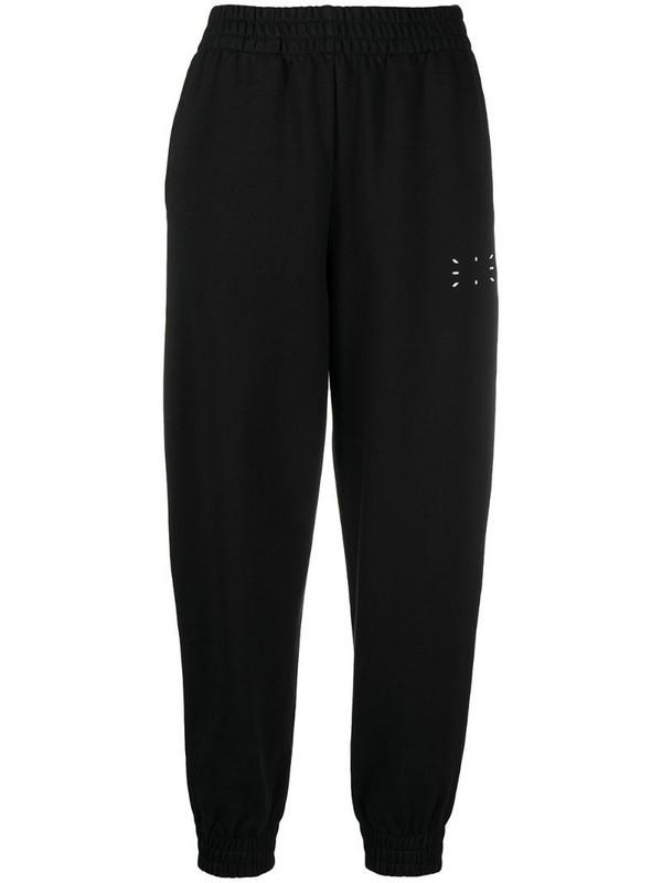 MCQ graphic-print cotton track trousers in black