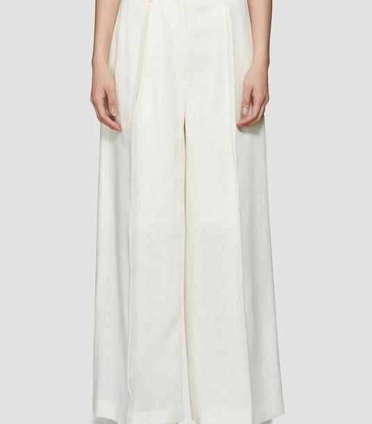 Jacquemus Pants Women - Le Pantalon Carini White 81% Viscose, 13% Cotton, 6% Polyester. Do not bleach. FR - 36