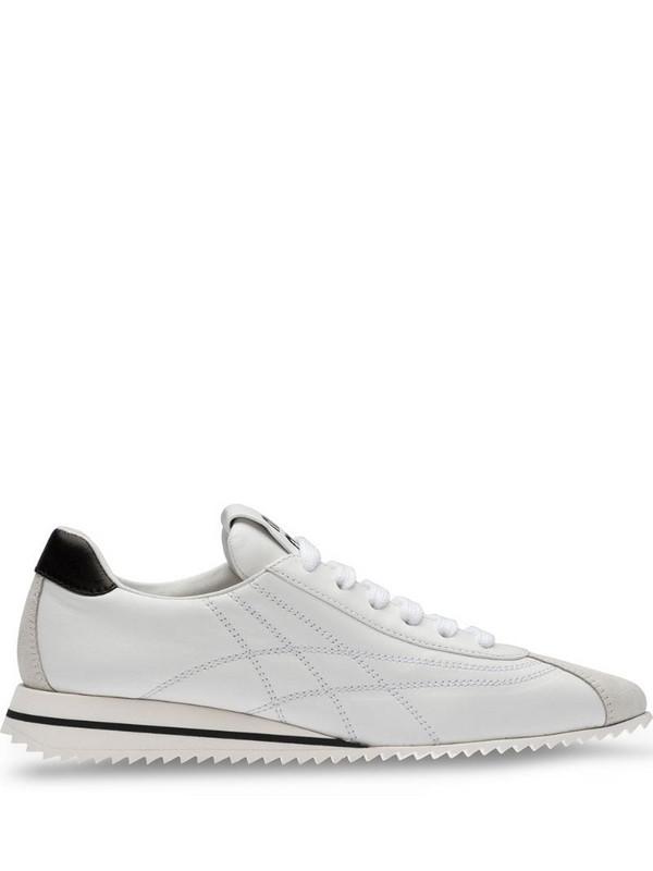 Miu Miu low-top runner sneakers in white