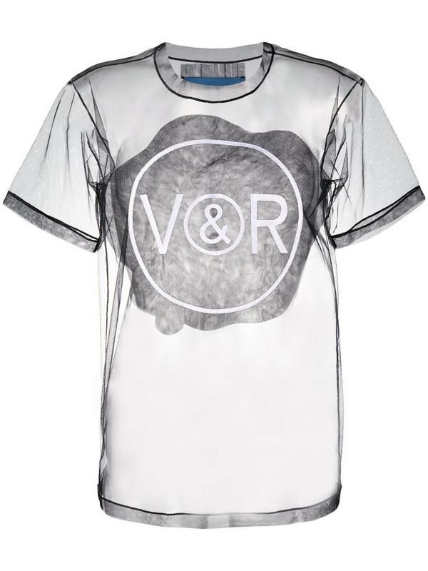 Viktor & Rolf tulle logo T-shirt in black