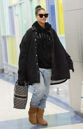 bag,shirt,jacket,rihanna,celebrity,casual