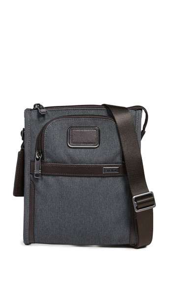 Tumi Alpha Small Pocket Bag in anthracite